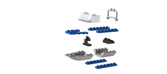 SolidWorks Lego Boat - Exploded View